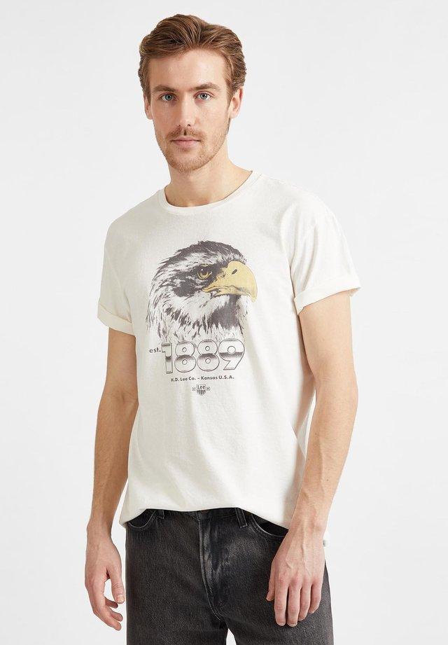 BIKER  - Camiseta estampada - white canvas