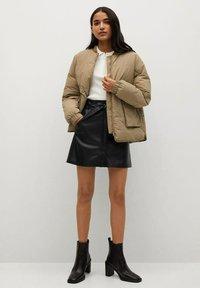Mango - Leather skirt - černá - 1