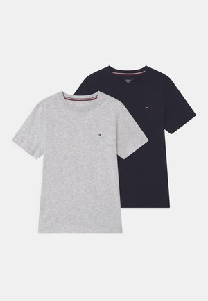 2 PACK  - T-shirt basic - ice grey heather/desert sky