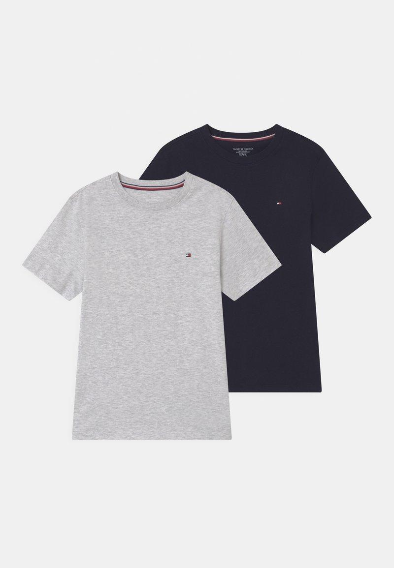 Tommy Hilfiger - 2 PACK  - T-shirt basic - ice grey heather/desert sky