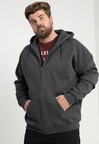 Urban Classics - ZIP HOODY - Zip-up hoodie - charcoal - 0