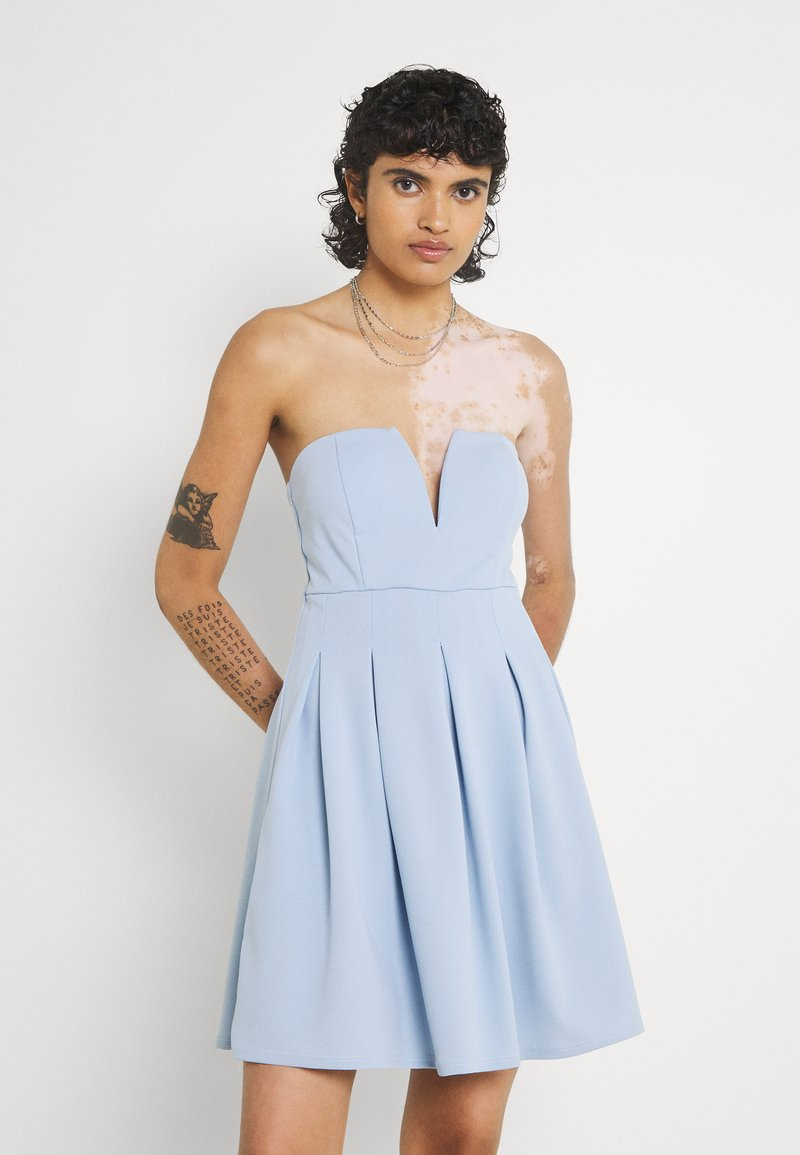 WAL G. - SIMONE CUPPED SKATER DRESS - Cocktail dress / Party dress - baby blue