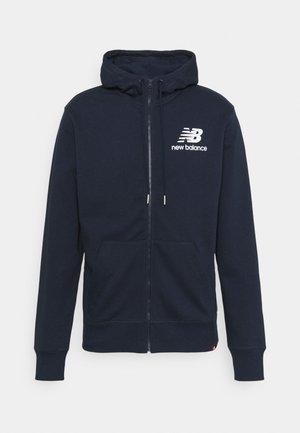 ESSENTIALS STACKED FULL ZIP HOODIE - Zip-up hoodie - eclipse