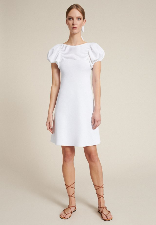 COLOMBIA - Gebreide jurk - bianco