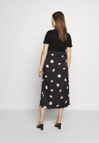 Glamorous Bloom - CARE SLIP SKIRT - Maxi skirt - black - 2