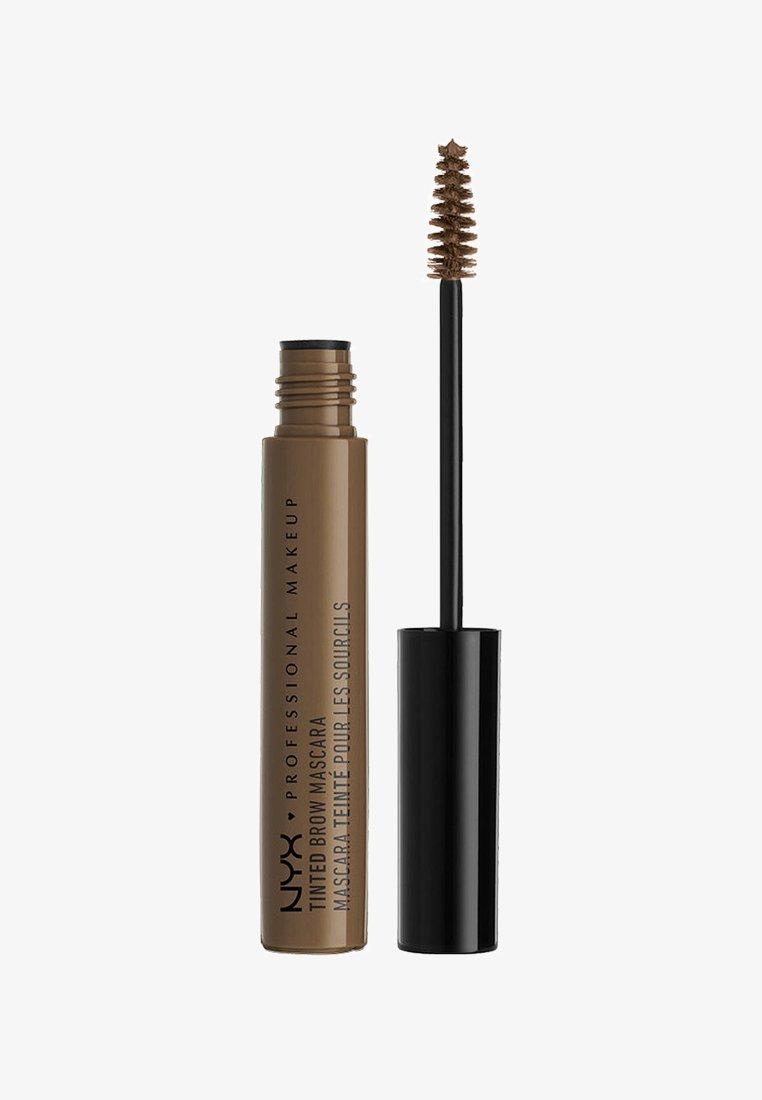 Nyx Professional Makeup - TINTED BROW MASCARA - Henna do brwi - 3 brunette