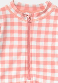 Cotton On - LUCY LONG SLEEVE SWIMSUIT - Swimsuit - smoked salmon/gingham - 2
