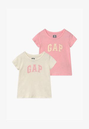 TODDLER GIRL LOGO 2 PACK - Camiseta estampada - light shell/pink