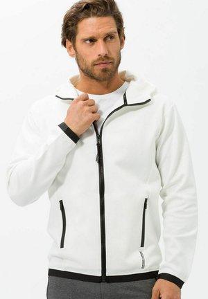 STYLE SAMMY - Zip-up sweatshirt - offwhite
