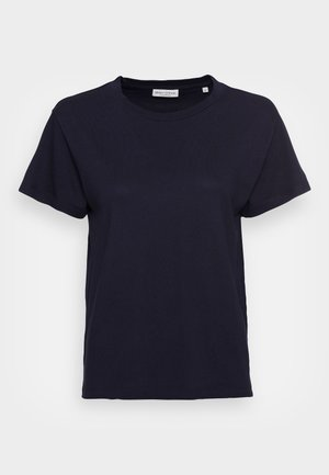 SHORT SLEEVE ROUND NECK LOGO AT BACK NECK - Basic T-shirt - manic midnight