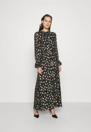 MAXIME DRESS - Maxi dress - black/gold