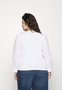 Pieces Curve - PCLIZZIE - Long sleeved top - bright white - 2