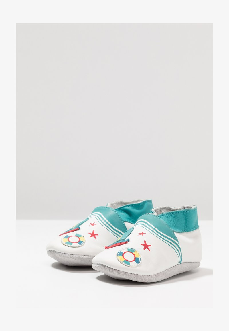 Robeez - LIFEGUARD - First shoes - blanc/turquoise