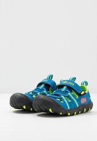 TrollKids - KIDS SANDEFJORD - Walking sandals - medium blue/lime - 3
