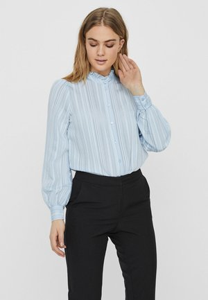 Button-down blouse - ashley blue