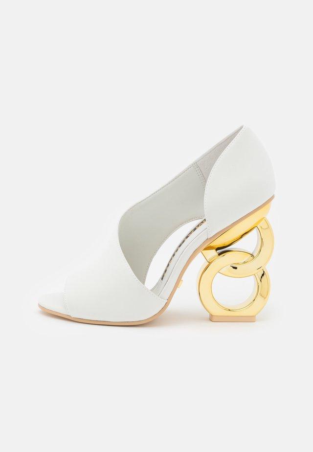 Peeptoe heels - sea mist