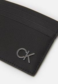 Calvin Klein - CARDHOLDER UNISEX - Peněženka - black - 3