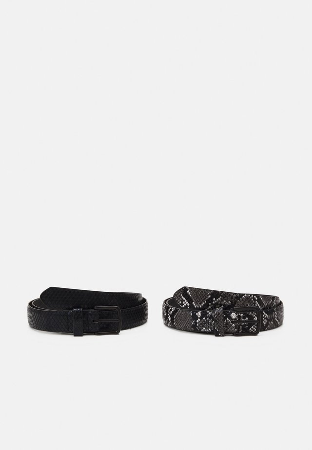 UNISEX 2 PACK - Belt - black