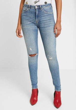 HAUT - Jeansy Skinny Fit - underground blue