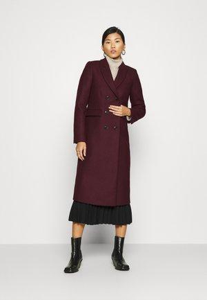 Płaszcz wełniany /Płaszcz klasyczny - merlot