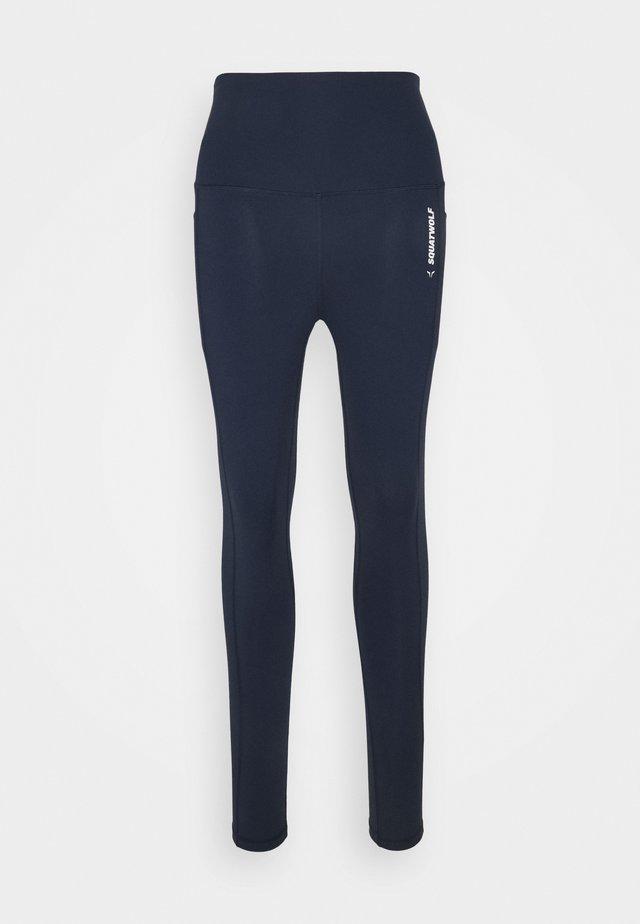 WE RISE HIGH WAISTED LEGGINGS - Leggings - navy blue