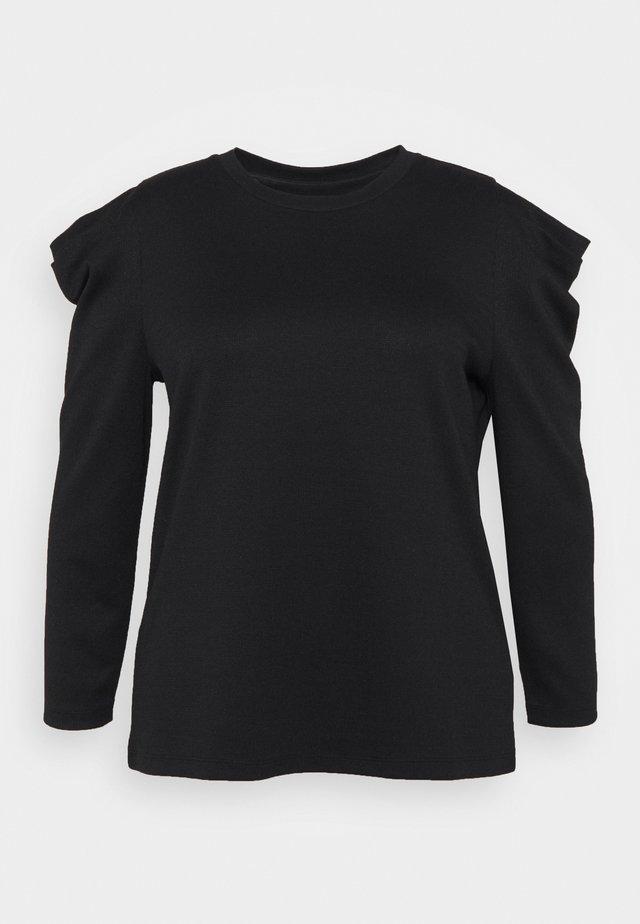 CAREVA  - T-shirt à manches longues - black