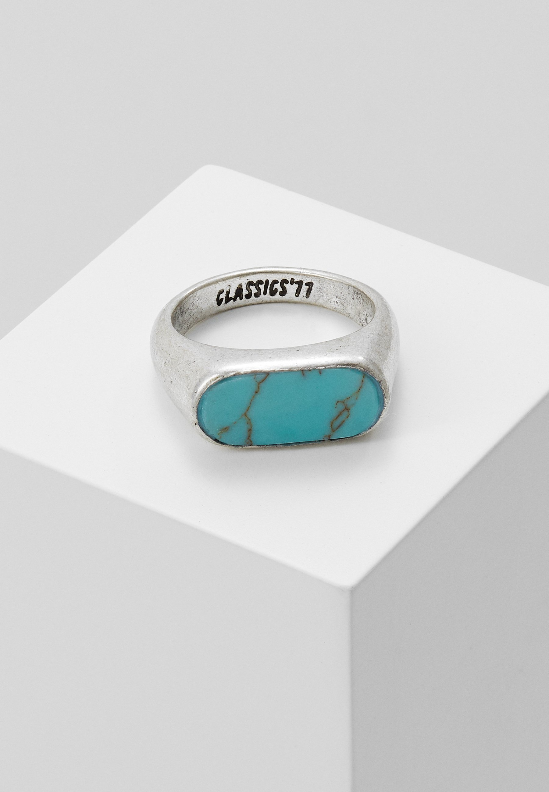 OVAL STONE Ring silver colouredturquoise