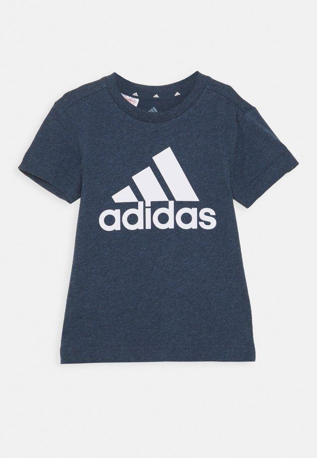 UNISEX - Print T-shirt - crew navy melange/white