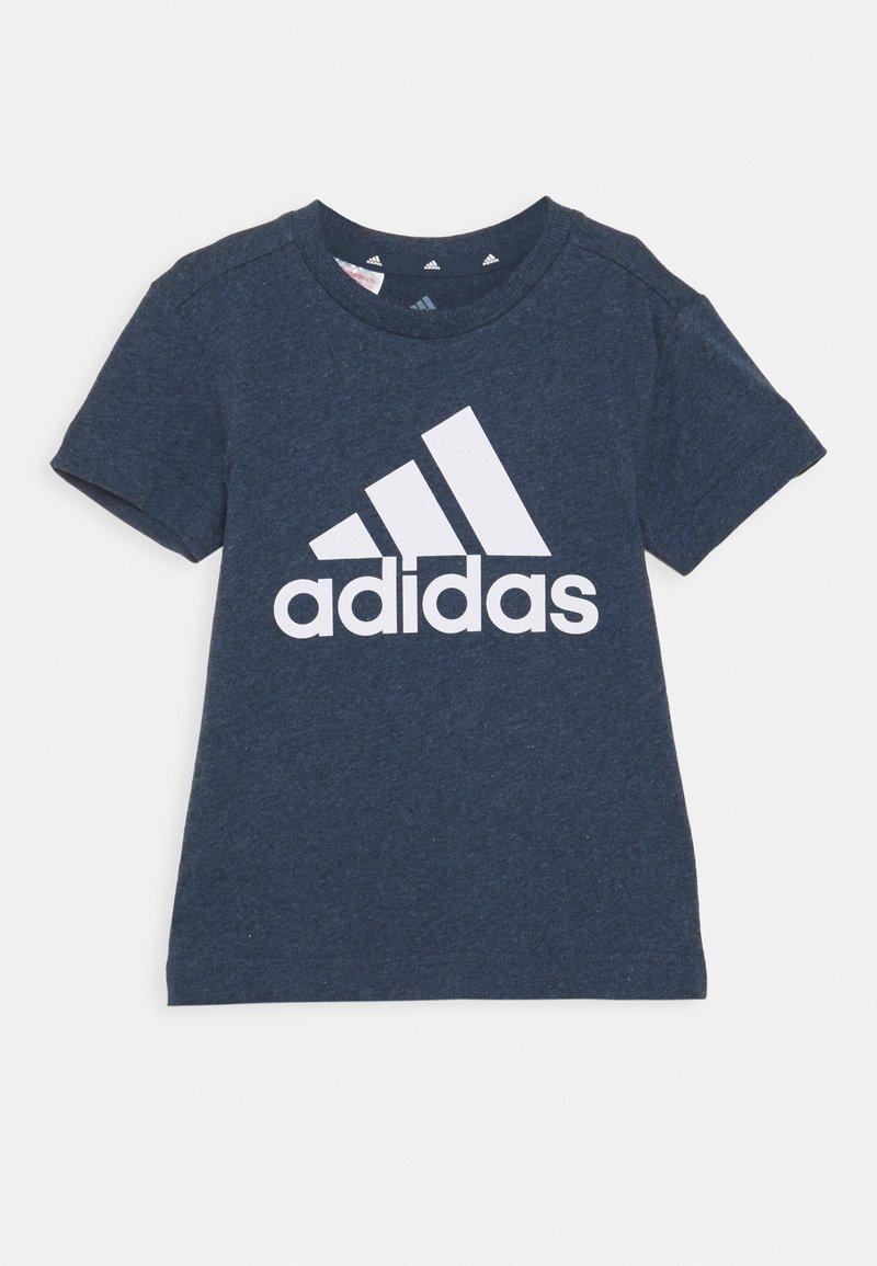 adidas Performance - UNISEX - T-shirt print - crew navy melange/white