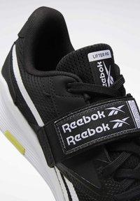 Reebok - LIFTER PR II - Sports shoes - black/white/chartr - 7