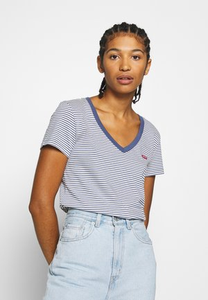 PERFECT V NECK - T-shirts - blue indigo