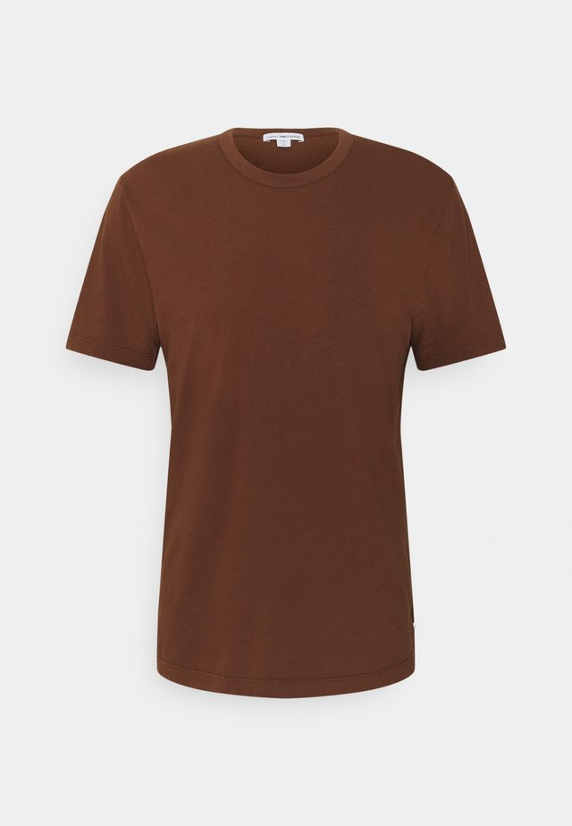 CREW NECK - T-shirt basic - brown