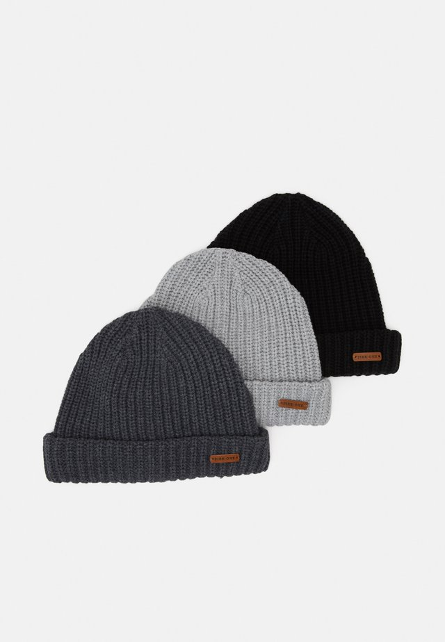 3 PACK - Huer - black/light grey/dark grey