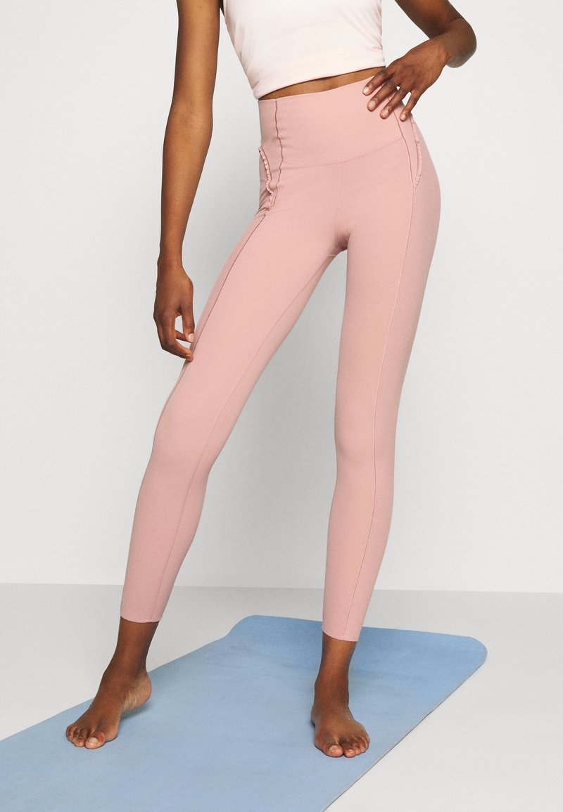 Nike Performance - YOGA - Leggings - rust pink/beige