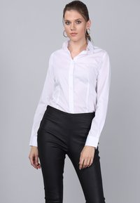 Basics and More - Button-down blouse - white - 0