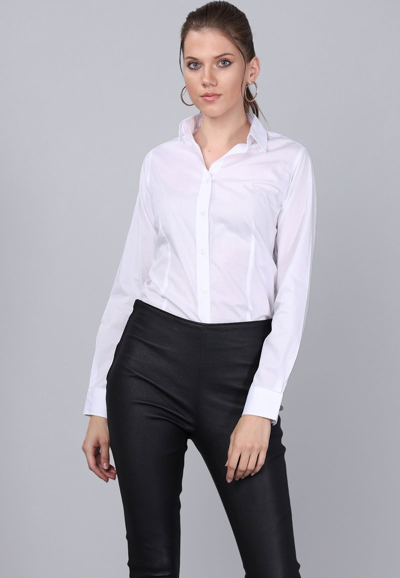 Basics and More - Button-down blouse - white