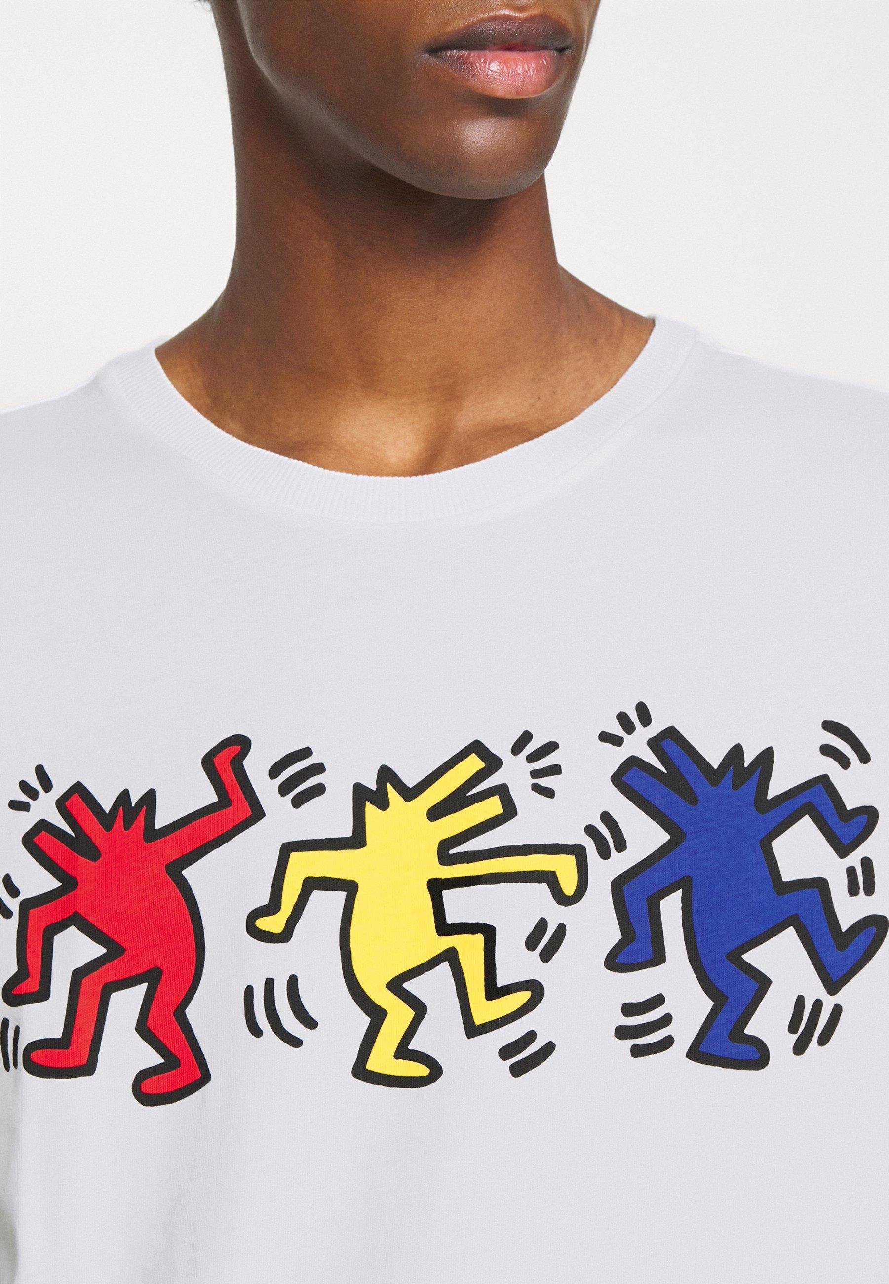 Benetton Artwork - T-shirts Med Print White/hvit
