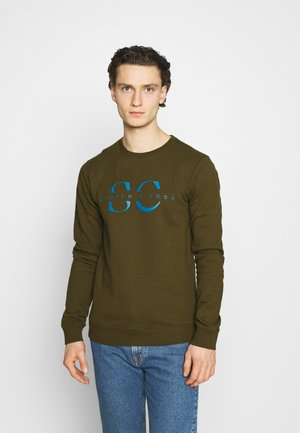 CREW NECK WITH GRAPHIC - Sweatshirt - military green