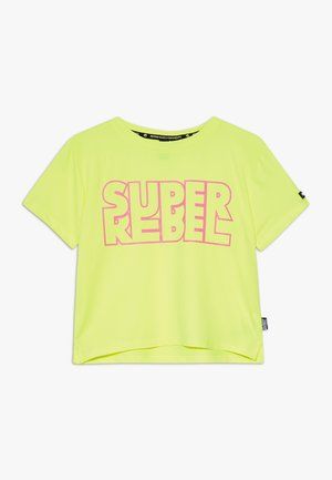 GIRLS ACTIVE - Print T-shirt - neon yellow