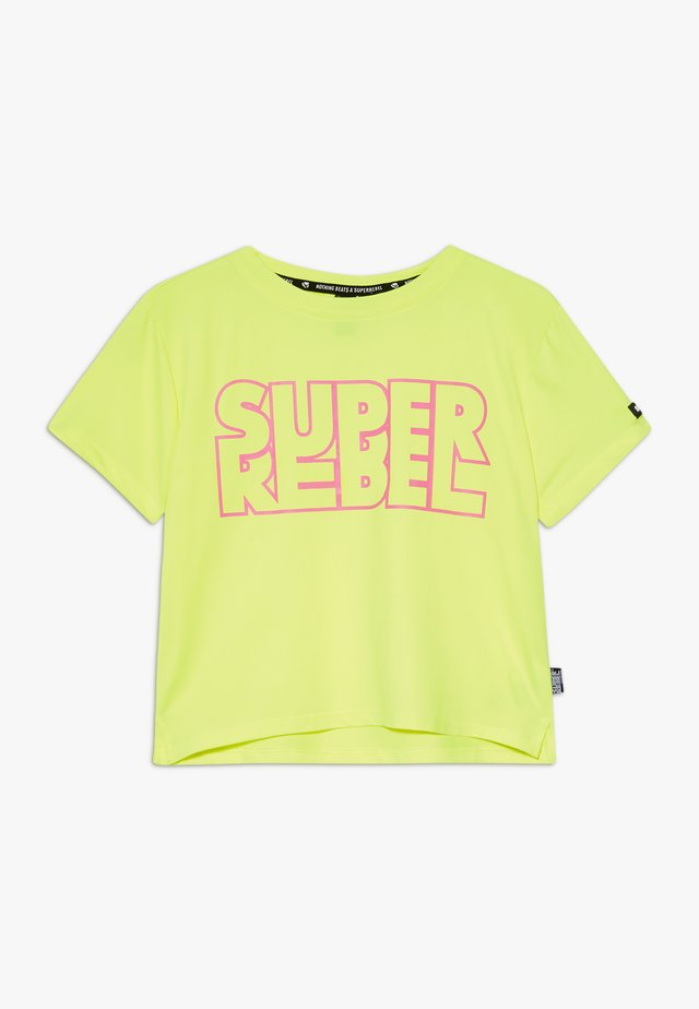 GIRLS ACTIVE - T-shirt con stampa - neon yellow