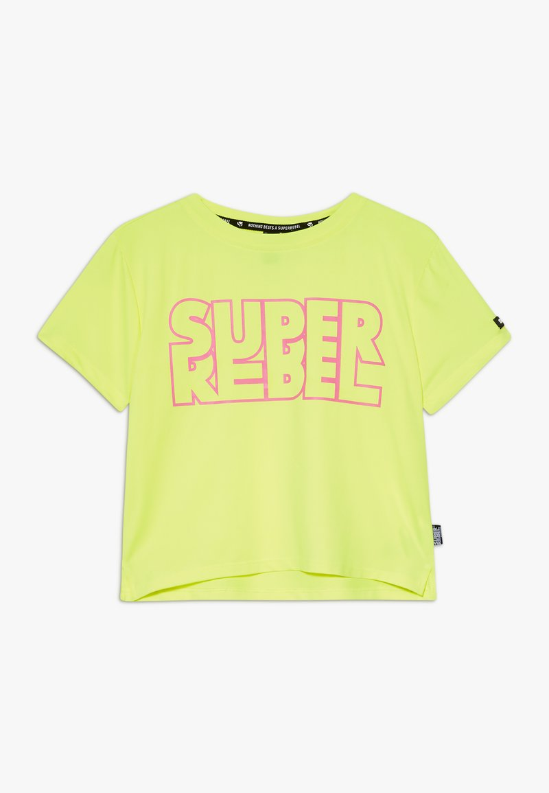 SuperRebel - GIRLS ACTIVE - Print T-shirt - neon yellow