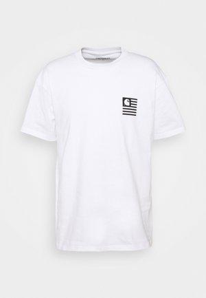 WAVY STATE - Print T-shirt - white/black