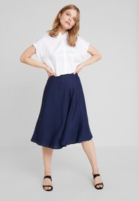 Esprit Collection - SOLID - A-line skirt - navy - 1