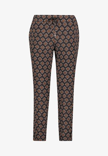 Trousers - schwarz/braun