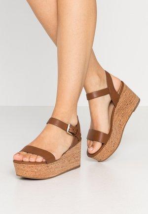 MAUMA - Platform sandals - cognac