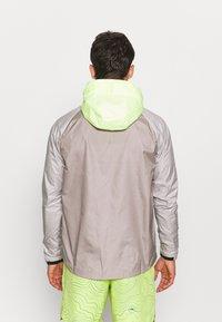 Nike Performance - TRAIL WINDRUNNER  - Veste de running - lemon twist/moon fossil/college grey/bright spruce - 2