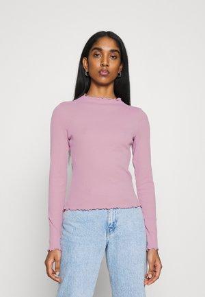 Topper langermet - pink