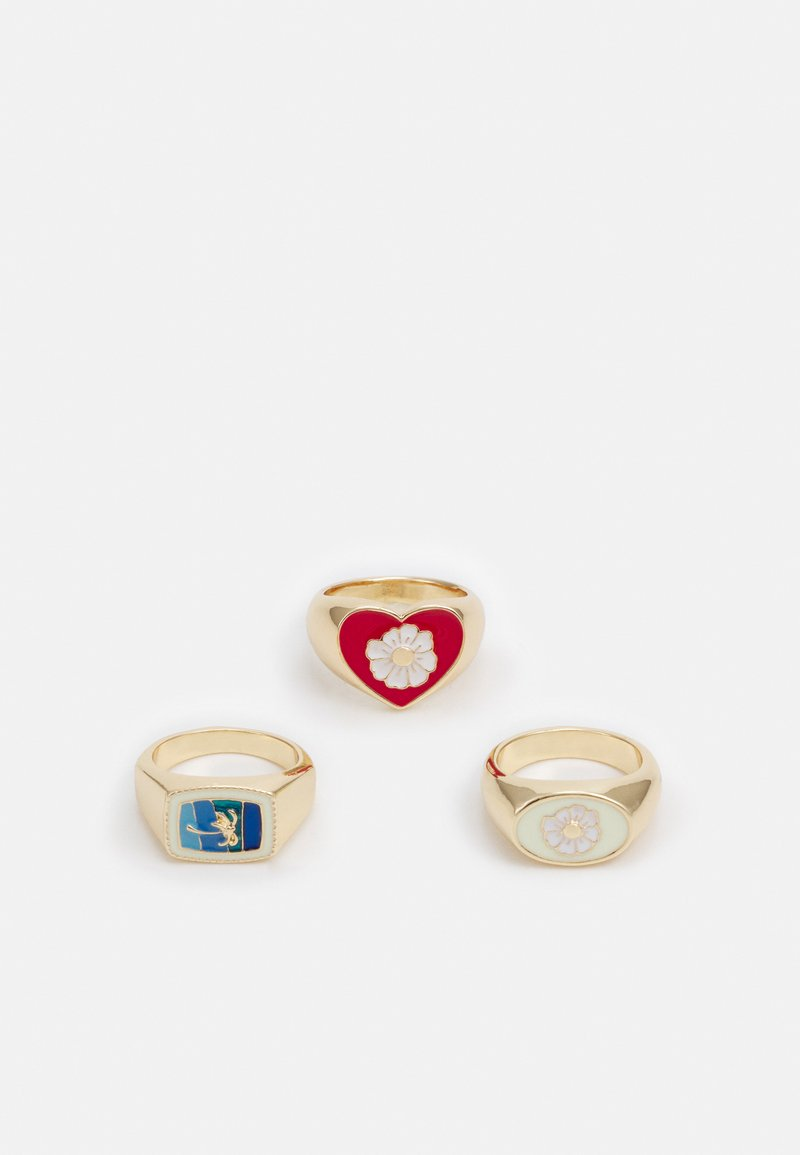 Pieces - PCAVILMA 3 PACK - Ring - gold-coloured/multi