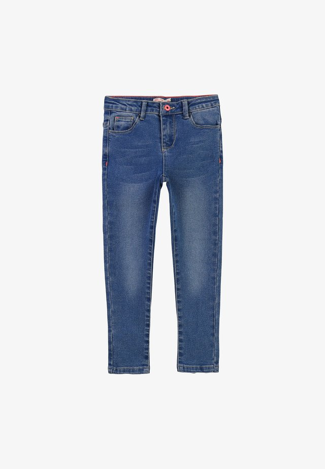 AVEC FENTES - Slim fit jeans - double stone+brossage