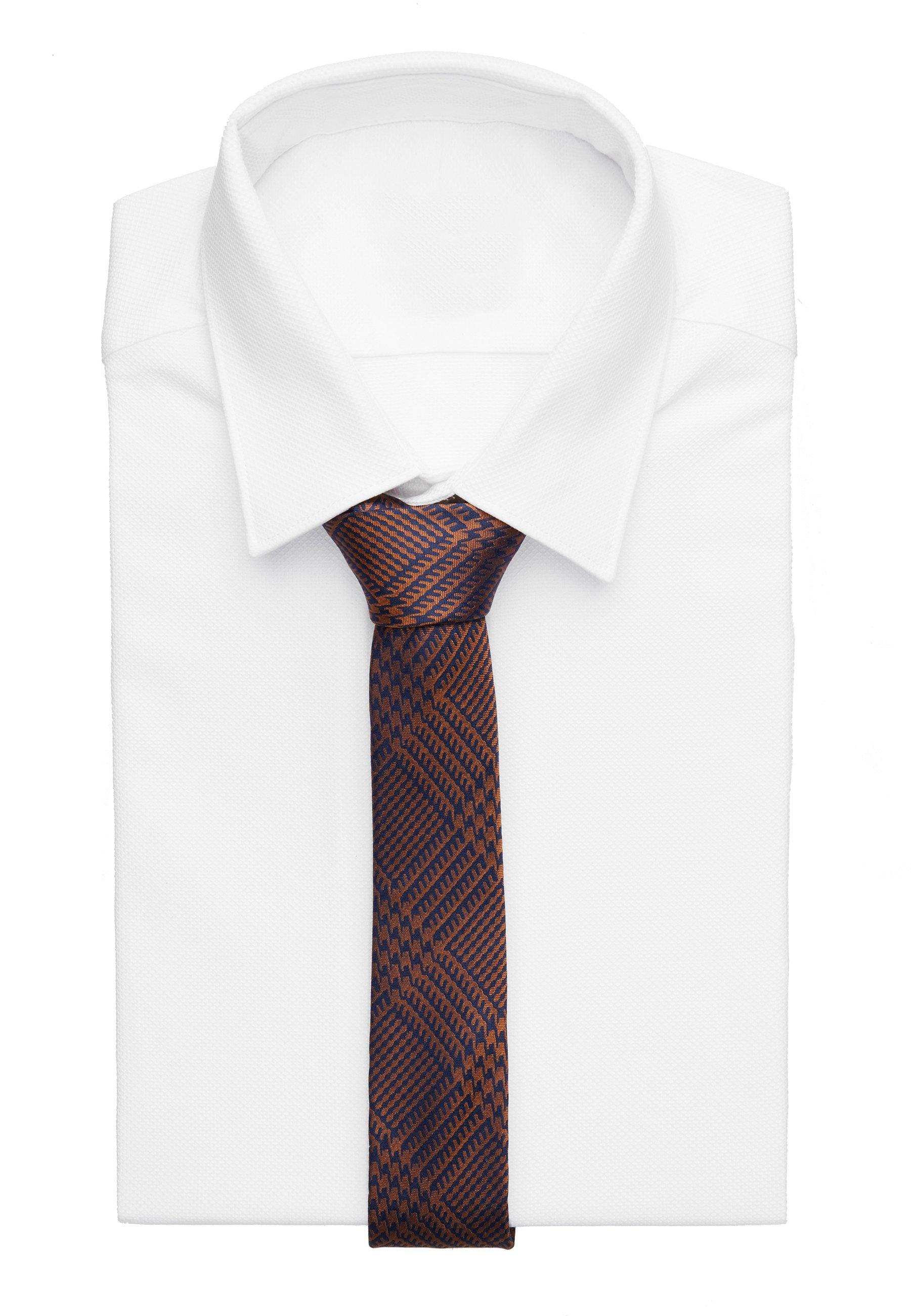 DRYKORN TIE SLIM - Krawatte - orange/braun - Herrenaccessoires SCGRm